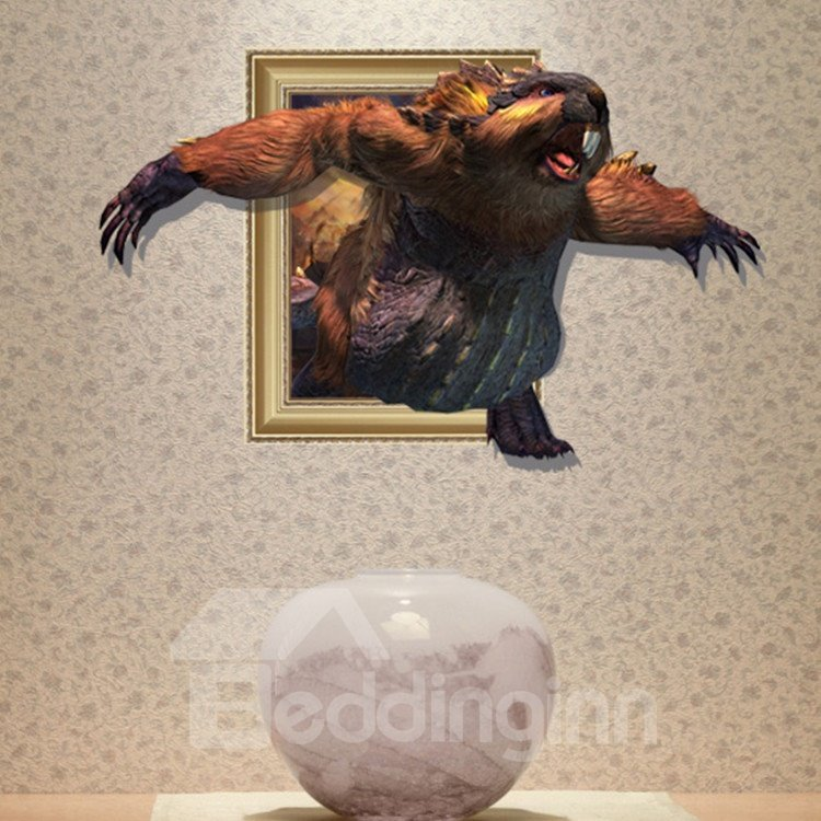 Elegant Creative 3D Extremely Large Rat Wall Sticker