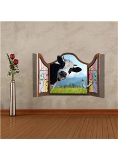 Amazing Style Cute 3D Cow Wall Sticker