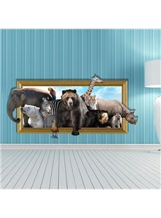 Amazing Style Creative 3D Animal Wall Sticker