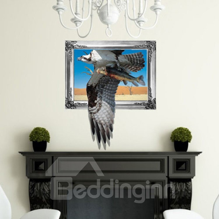 Stunning Style Creative 3D Eagle Wall Sticker