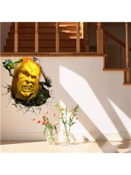 Amazing Style Creative 3D Pumpkin Monster Wall Sticker