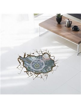 Amazing Creative Beautiful 3D Bird's View Scenery Wall Sticker