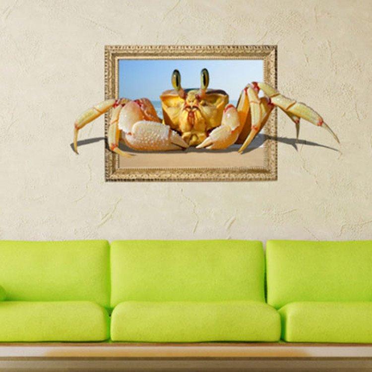 Stunning Stylish 3D Crab Wall Sticker