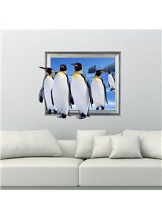 Lovely Cute Penguins Pattern Decorative 3D Wall Sticker