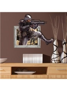New Style Amazing 3D Policeman Wall Sticker