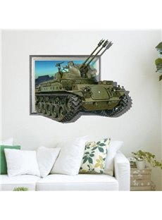 Stunning Creative 3D Tank Wall Sticker