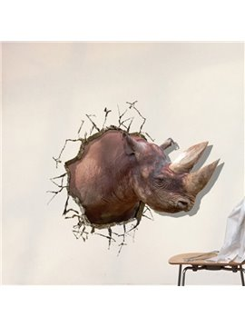 New Style Fancy Creative 3D Rhino Wall Sticker