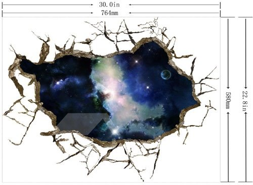 Amazing Creative 3D Starry Sky Wall Sticker