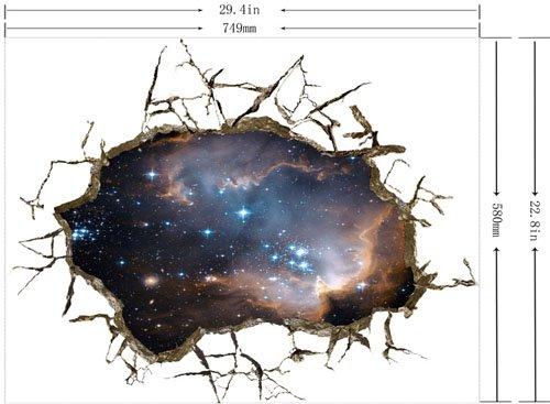 Amazing Creative 3D Beautiful Starry Sky Wall Sticker