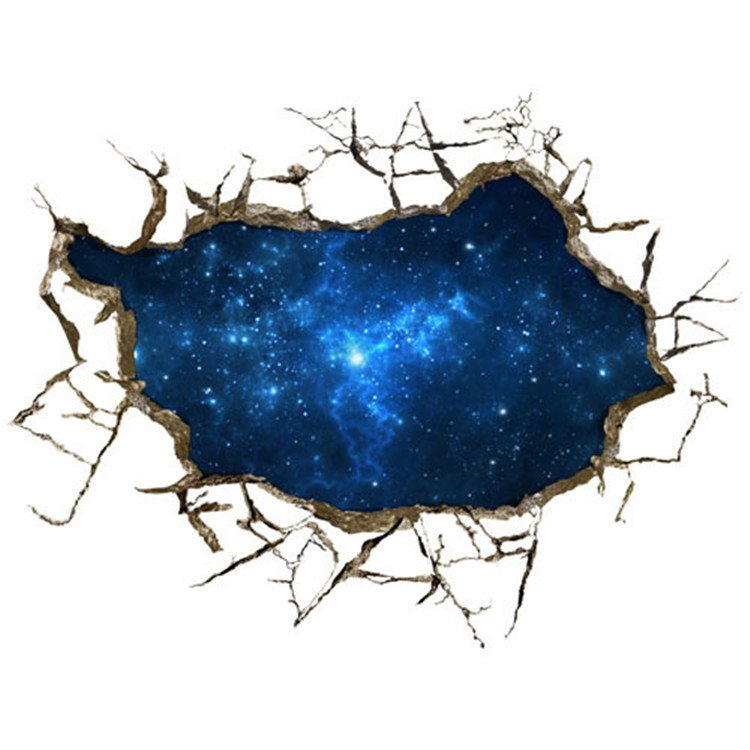 Alluring Creative 3D Starry Sky Wall Sticker