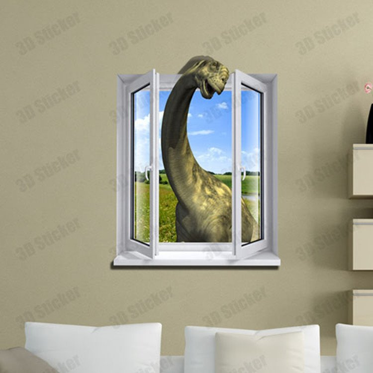 Amazing Stylish 3D Dinosaur Wall Sticker