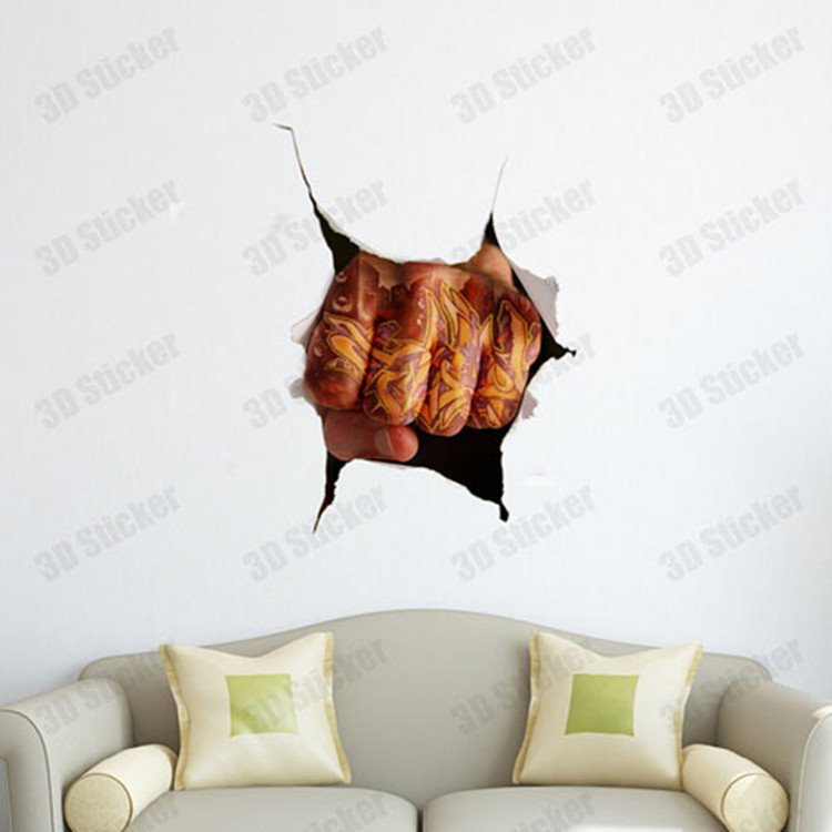 Stunning Creative 3D Fist Wall Sticker