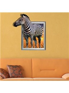 Elegant Creative 3D Zebra Wall Sticker