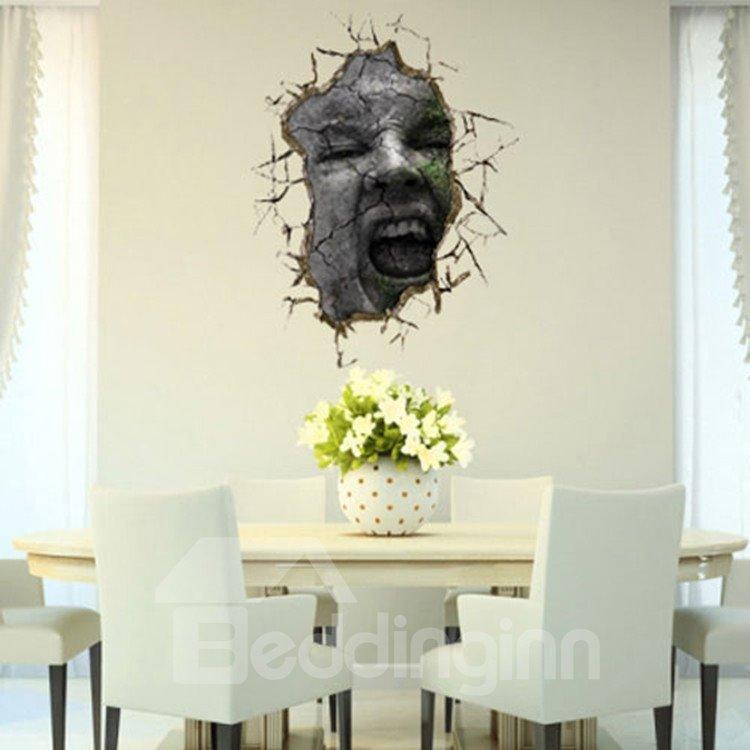 Stunning Creative 3D Face Wall Sticker