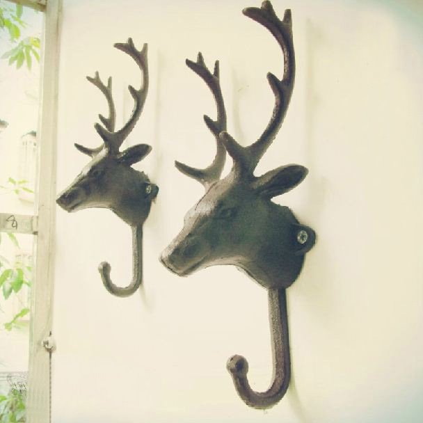 European Retro Deer Pattern One Piece Hook