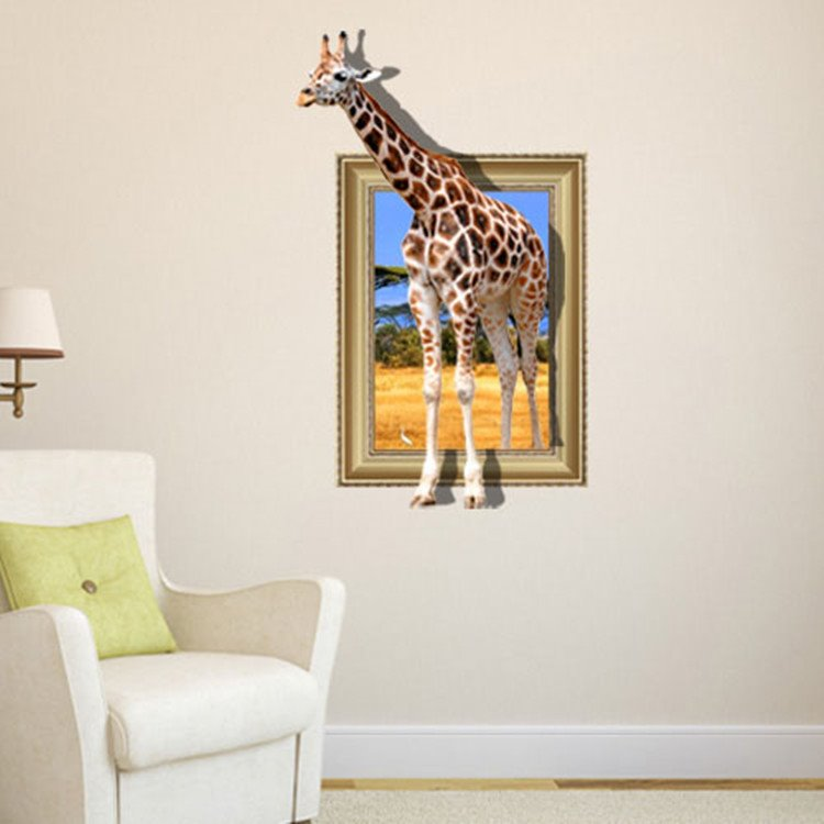 Amazing Creative 3D Giraffe Wall Sticker