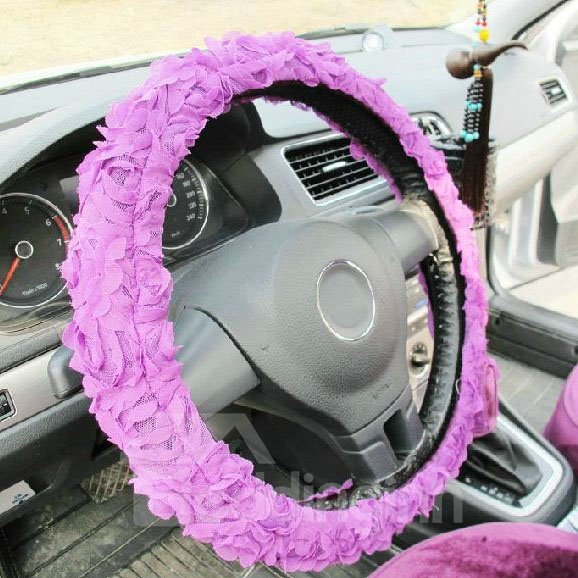 High Quality Fancy Roses Style Steering Wheel Cover