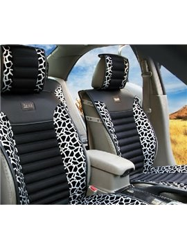 High Quality Classic Leopard Print Silver Car Seat Cover