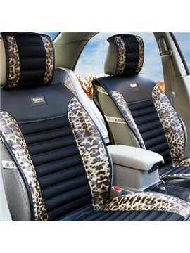 High Quality Classic Leopard Print Golden Car Seat Cover