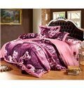 Very Soft Cotton Flower Oil Painting 4-Piece Duvet Cover Sets