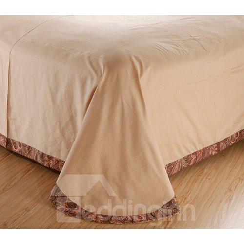 Secret Garden Flower Satin Jacquard 100% Cotton 4-Piece Duvet Cover Sets
