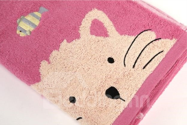High Quality Splendid Cute Cat Print Towel