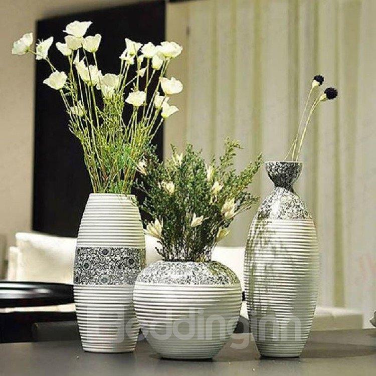 Alluring Modern Simple Style Sunflowers Design Three-piece Flower Vases