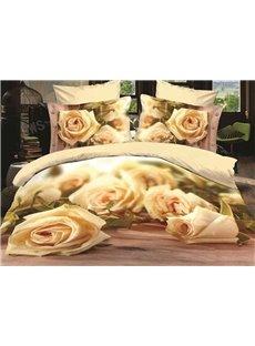 Fabulous Blooming Roses Print 3D Duvet Cover Sets