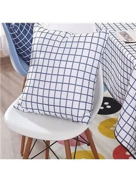 Newest Fancy Classical Plaid Pattern Canvas Throw Pillow