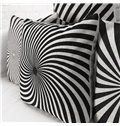 High Quality Classic White and Black Pillowcase