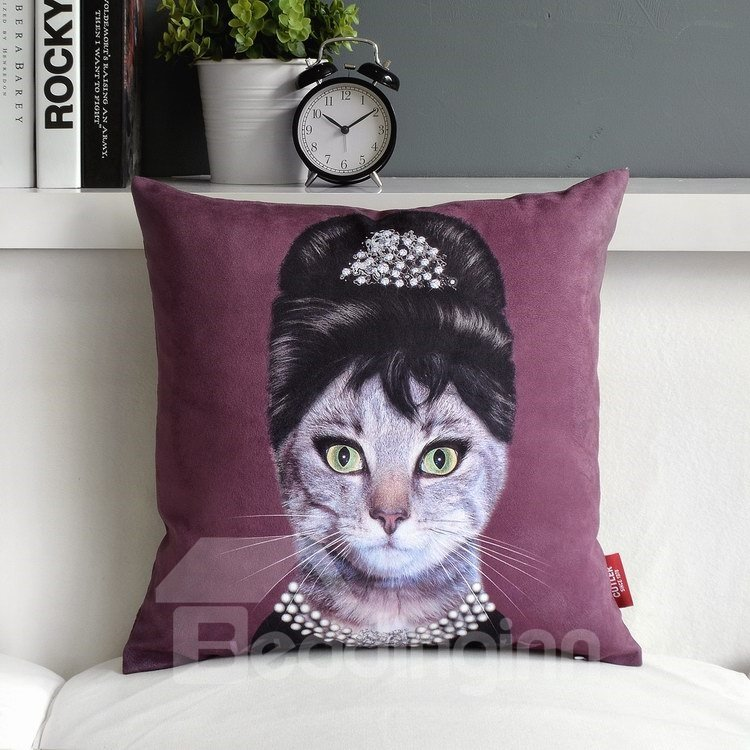 High Quality Creative Lovely Cat Cartoon Pillowcase