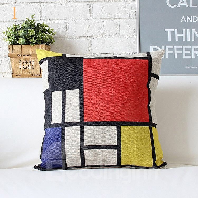 High Quality Simple Design Plaid Pattern Pillowcase