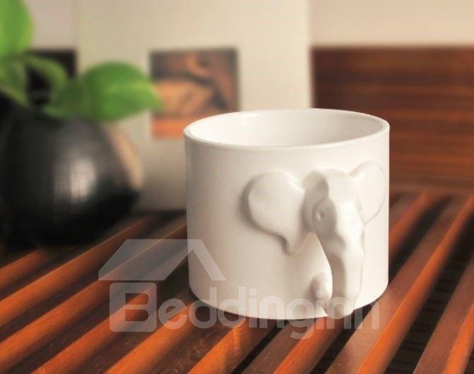 Stunning Creative Elephant Design Porcelain Mug