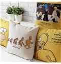 High Quality Happy Simpsons Family Print Pillowcase