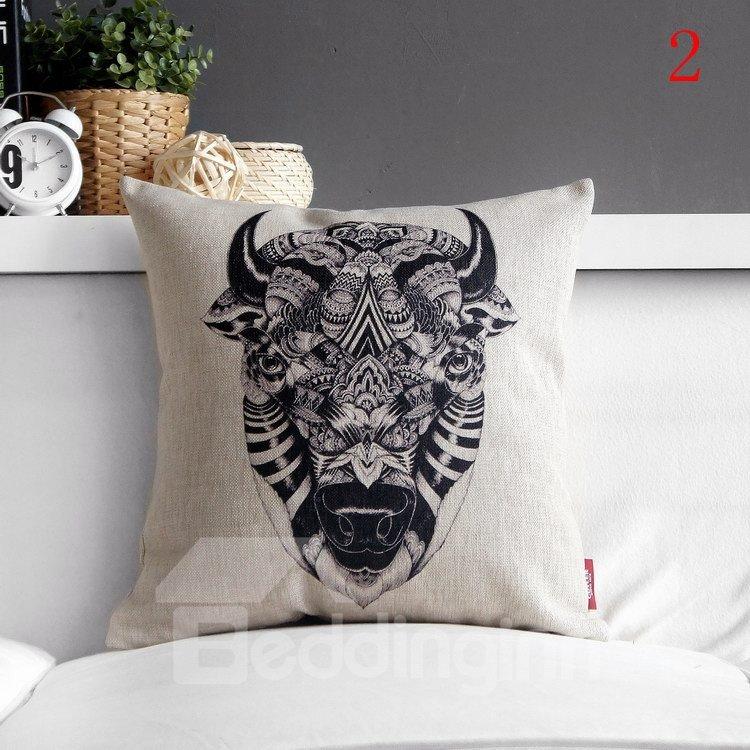 High Quality Fancy Animal Totem Print Pillowcase