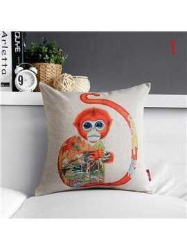 New Arrival Fantastic Colorful Animal Print Pillowcase
