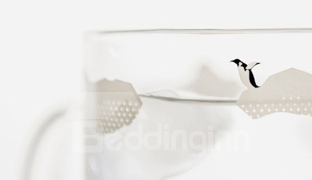 Amazing Creative Cute Penguin Pattern Glass Mug