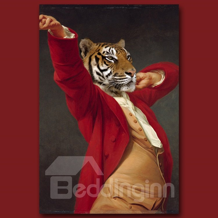 Stunning Tiger Design Pure Cotton Material Wall Art Print
