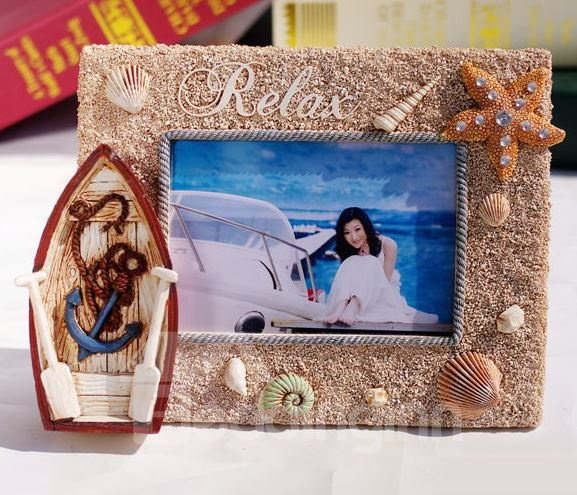 European Mediterranean Style Boat Design Creative Photo Frame