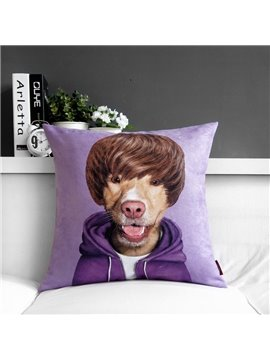 High Quality Creative Purple Lovely Cartoon Print Throw Pillow