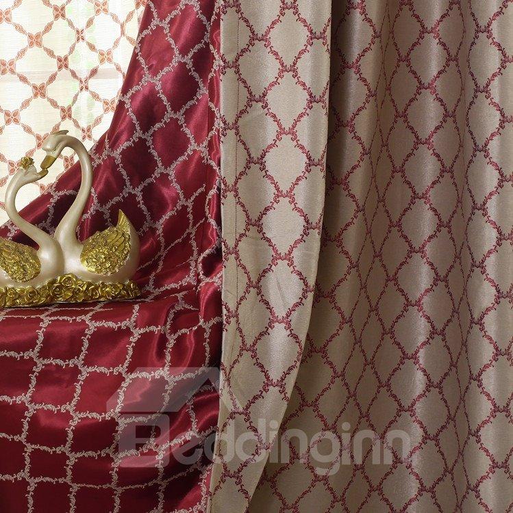Elegant Luxurious Pretty Patterns Grommet Top Two-piece Custom Curtains