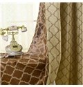 Elegant High-end Pretty Patterns Grommet Top Two-piece Custom Curtains