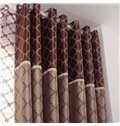High Quality  High-end Pretty Patterns Grommet Top Two-piece Custom Curtains
