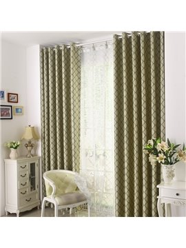 Elegant Beautiful Pattern Grommet Top Two Pieces Custom Curtain