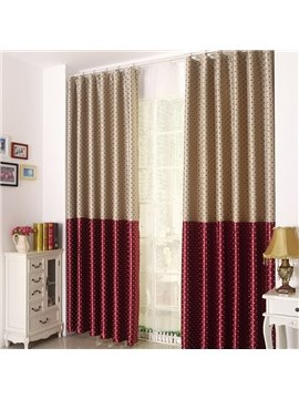 Beautiful Dots Pattern Grommet Top Two Pieces Custom Curtain