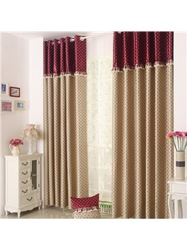 Charming Dots Pattern Two Pieces Grommet Top Curtain