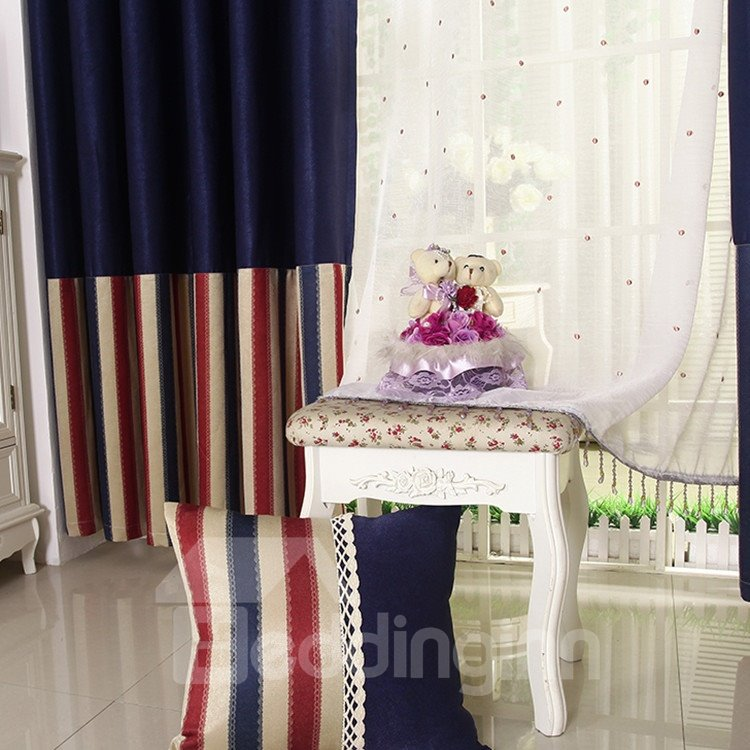 High Quality Luxurious Grommet Top Two-piece Custom Curtains