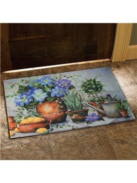 Amazing Country Style Flower Vase Prints Doormat