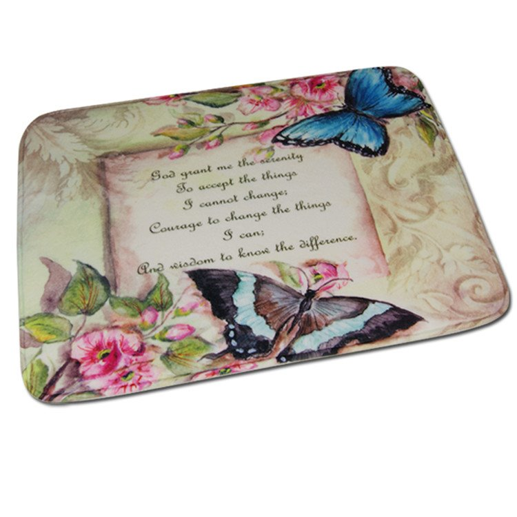 New Arrival Fantastic Butterflies And Letters Print Water