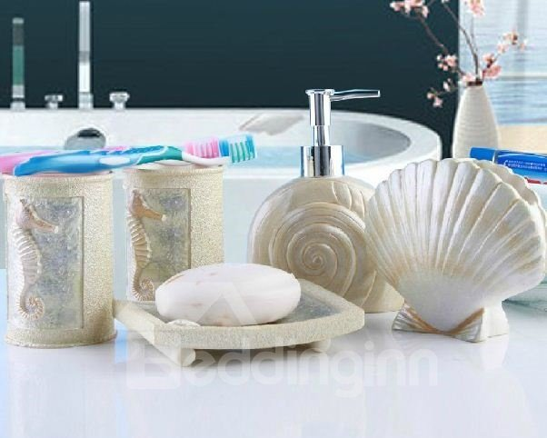 High Quality Creative Mediterrenean Style Five Pieces Bathroom Accessories
